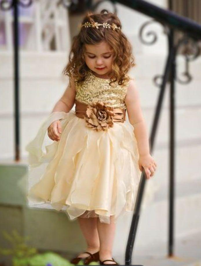 chestnut colored girls' dress