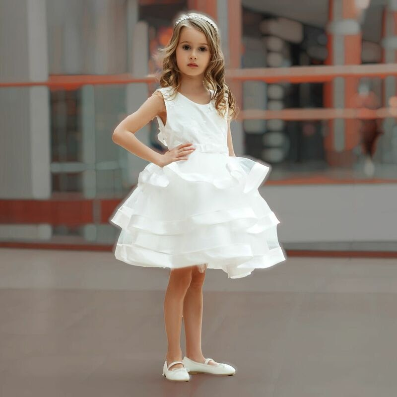 pearl white party dress