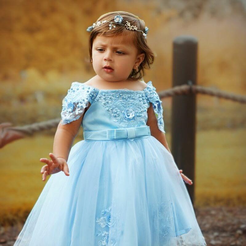 blue formal dress for girls