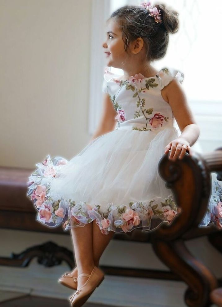 delicate girls party dress