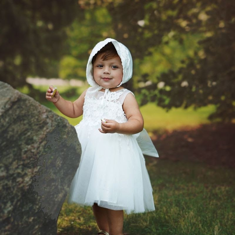 white lace dress for little girls