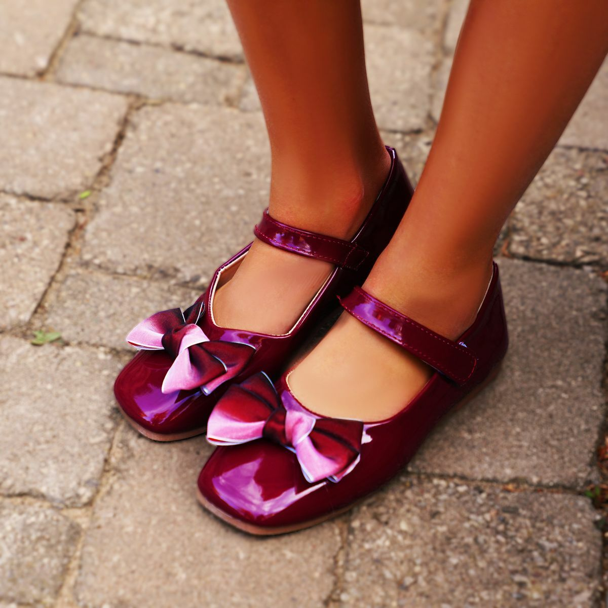 Robyn shoes in ombre red