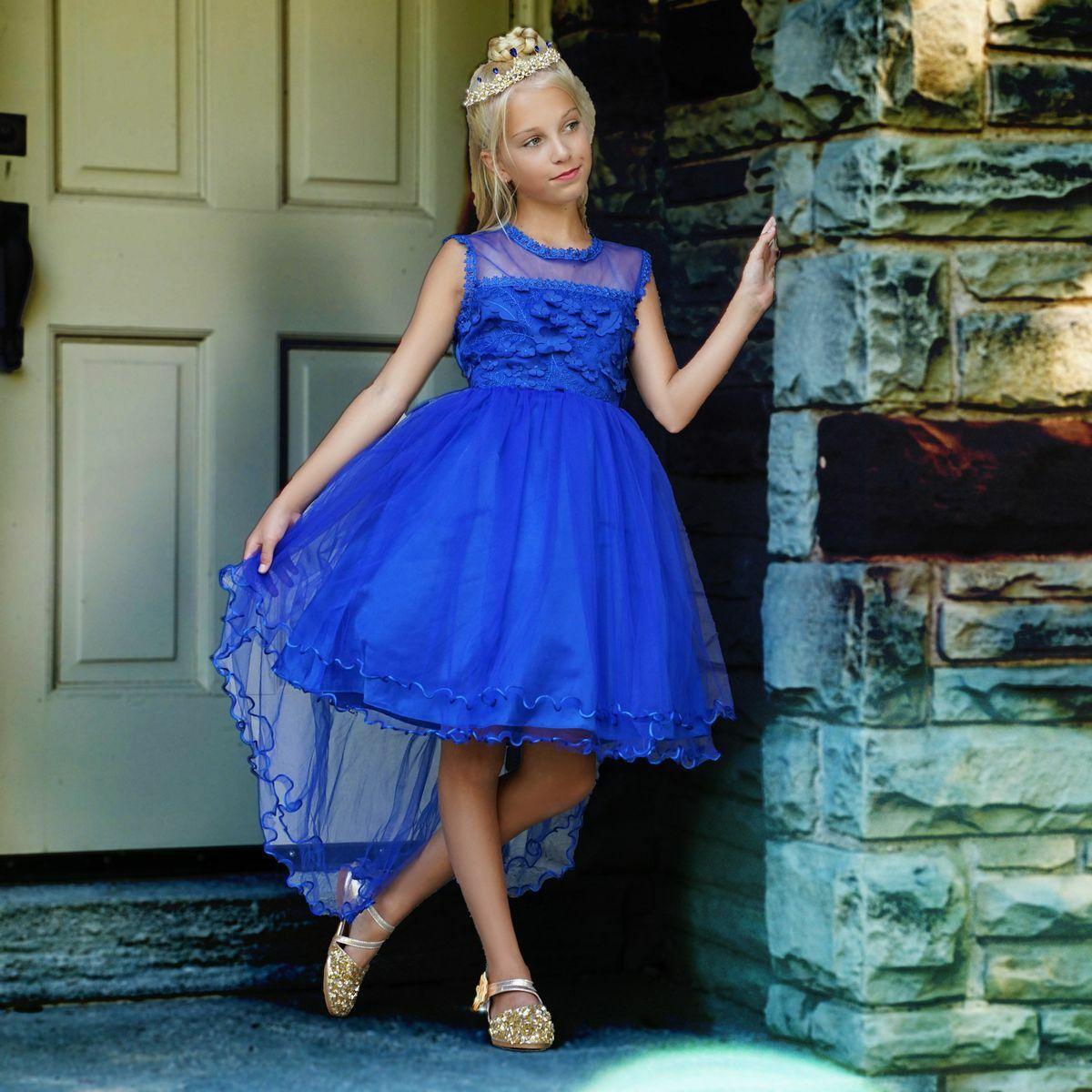 Freya dress in royal blue