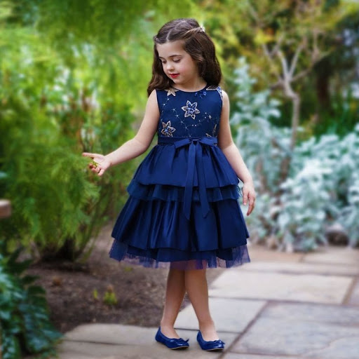 starry sequin blue dress