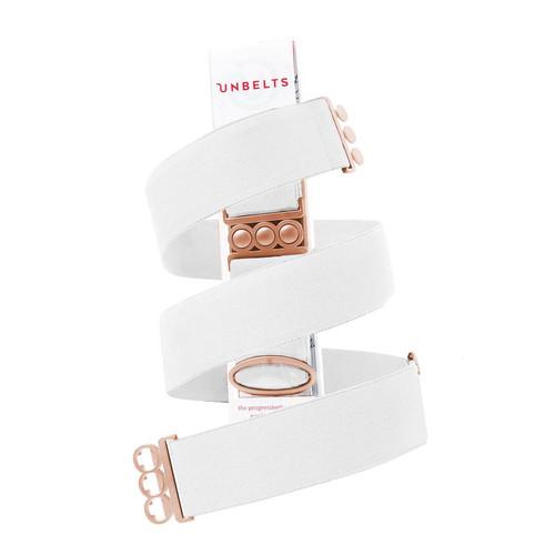 Flatter Me Belt White/Rose Gold