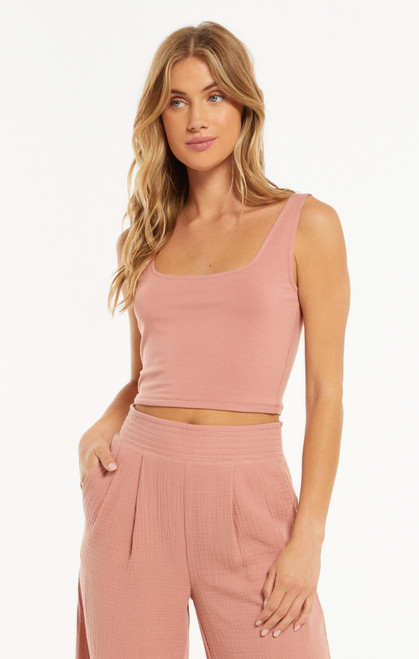Z Supply Old Rose Time Out Crop Tank