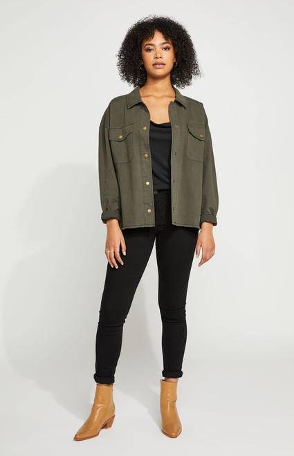 Gentle Fawn Washed Olive Winslow Top
