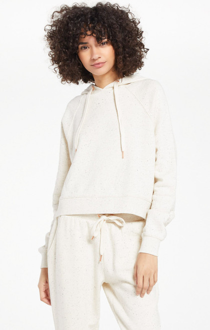 Z Supply Natural Faith Speckled Hoodie