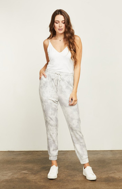 Gentle Fawn Grey Tie Die Dolce Jogger