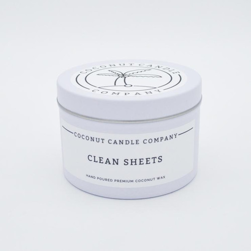 Coconut Candle 8 oz - Clean Sheets