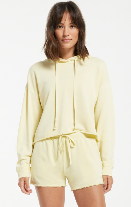 Z Supply Key Lime Gia Washed Hoodie