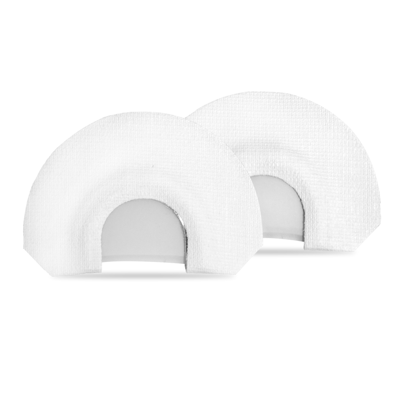 2 pack diaphragm calls: Loud Mouth and the Cut 'Em. White tape and latex double reeds. (*WARNING: Contains latex)