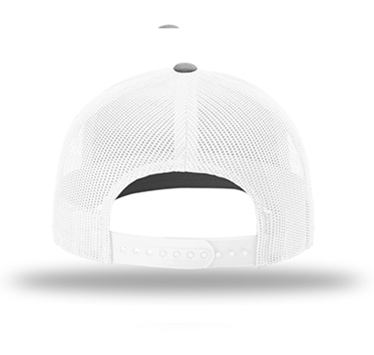 White mesh back with snapback closure