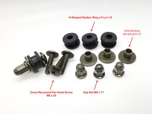 Mounting Fastening Screw Bushing Nut Set (Set of 4)