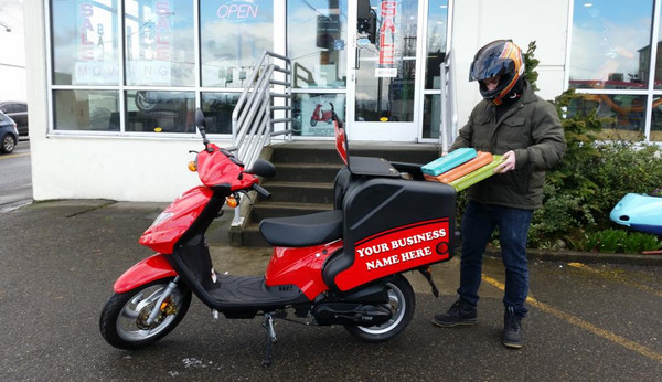 NEW 50CC Delivery Moped ~ TGB Express 49CC (RED) 2-Stroke Scooter