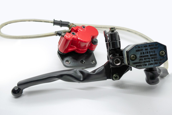 Disc Brake Assy, Front (Red) for Sachs Madass 50