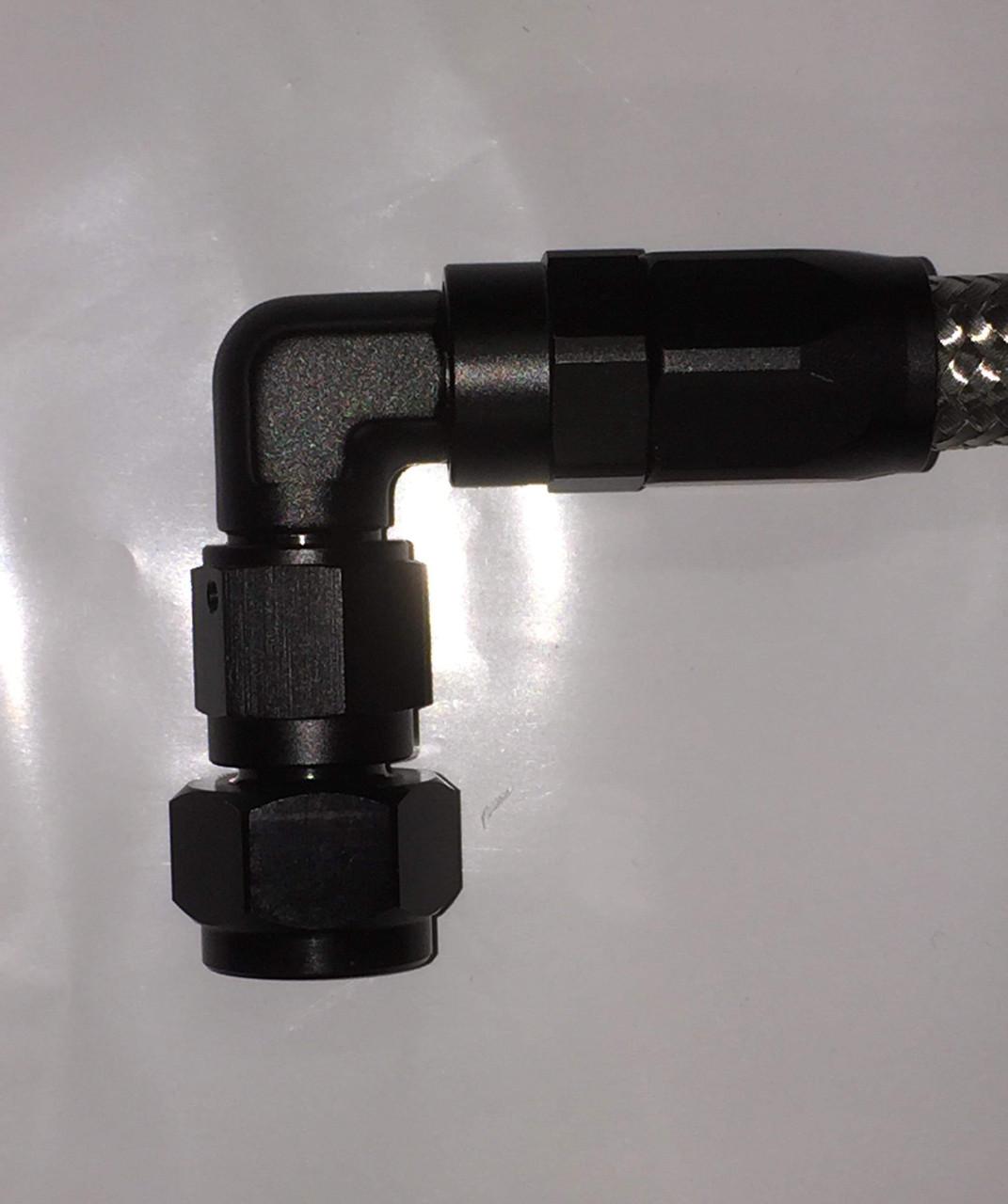 Oil Line Braided Stainless Black Ends, Frame to Motor SR400 SR500 TT500 XT500
