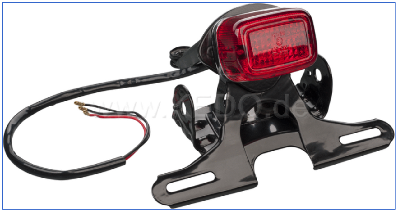 TT-Style Taillight Adapter, suitable for OEM XT500 taillight bracket and taillight 50590, supplied with all small parts, without taillight