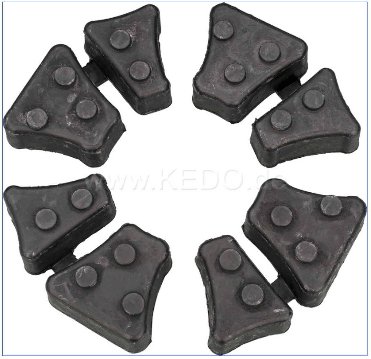 Rear Sprocket Cush Drive Rubber, Set of 4, Complete