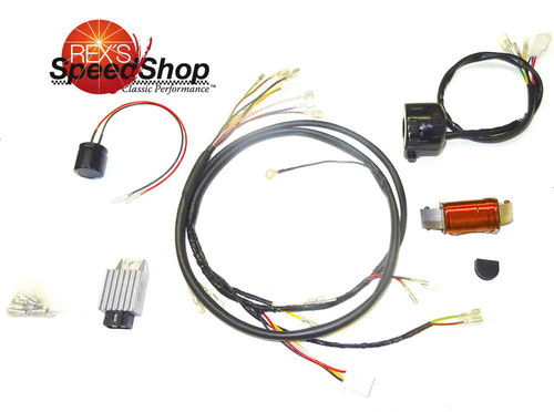 12 Volt Charging System:  TT500 Points Ignition Version (complete)