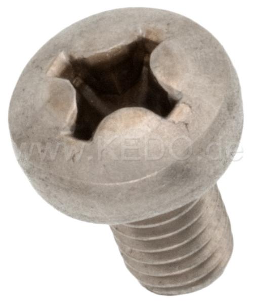 Heat Shield M6x10 Phillips-Head Screw (Oval-Head), A2 Stainless Steel