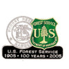 Forest Service Centennial Full Color Pin
