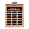 Ranger Roll Call Plaque - Alder