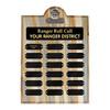 Ranger Roll Call Plaque - Beetle Kill Pine