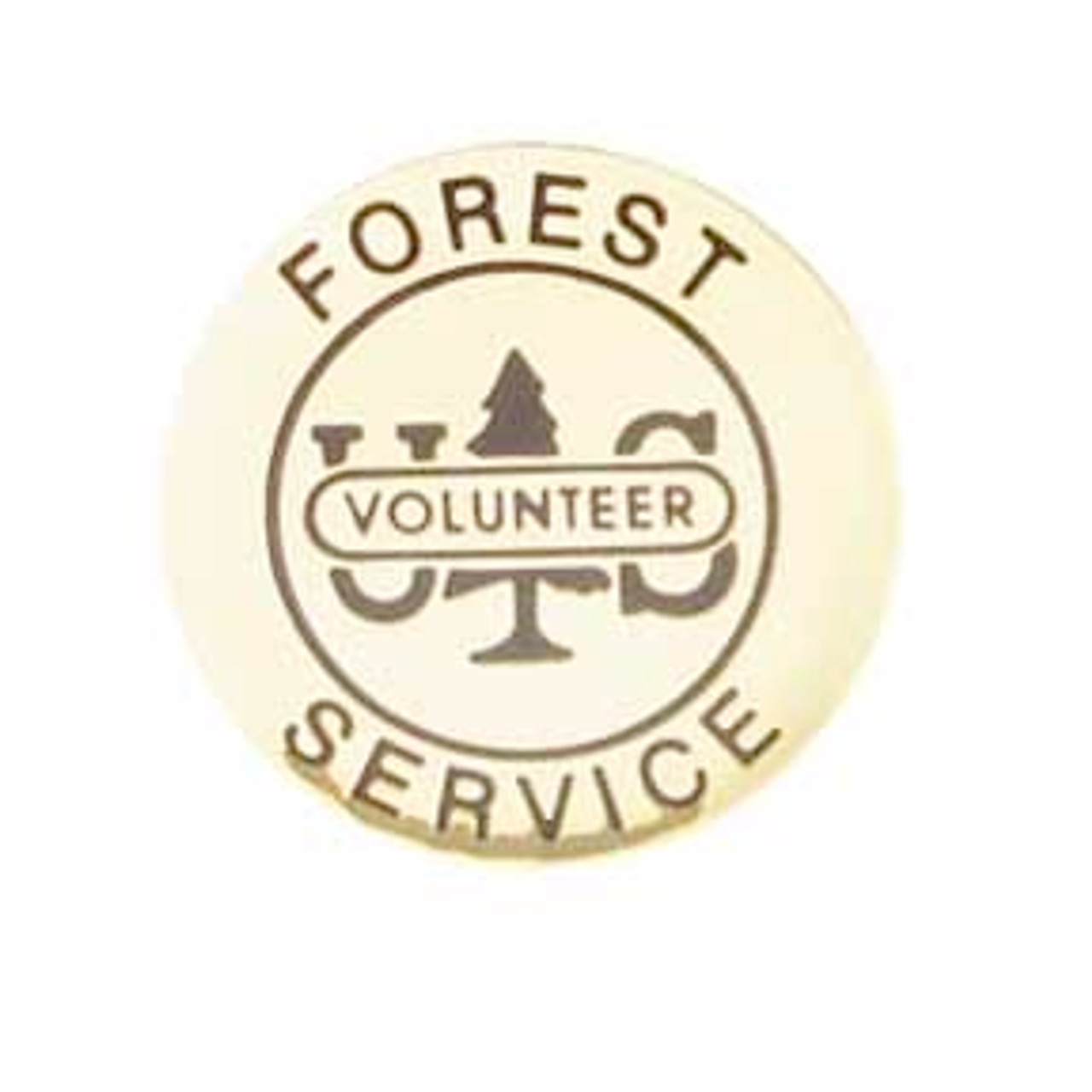 US Forest Service Volunteer Round Pin
