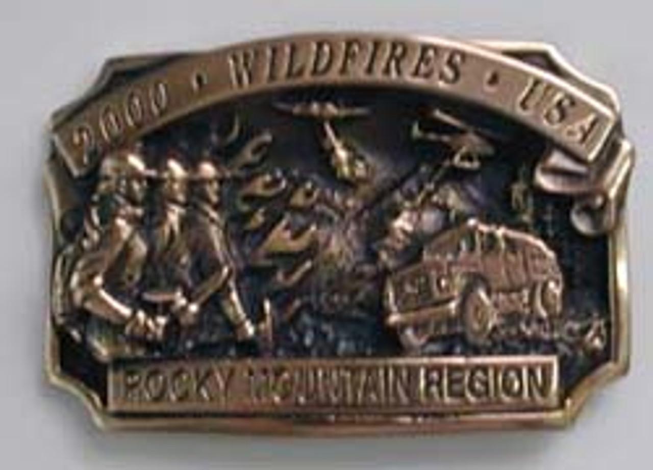 Rocky Mountain Region Fire Buckle