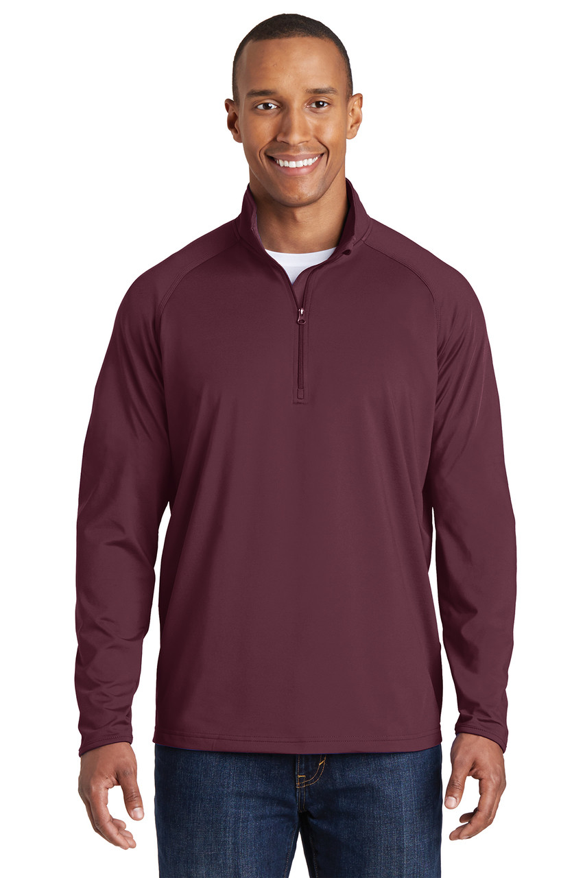 Sport Tek Sport Wick Stretch 1 2 Zip Pullover Men S Western Heritage Company Inc Chin guard for additional comfort. western heritage store