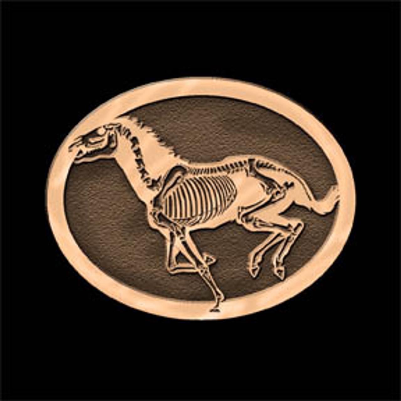 Skeleton Horse 2 Buckle