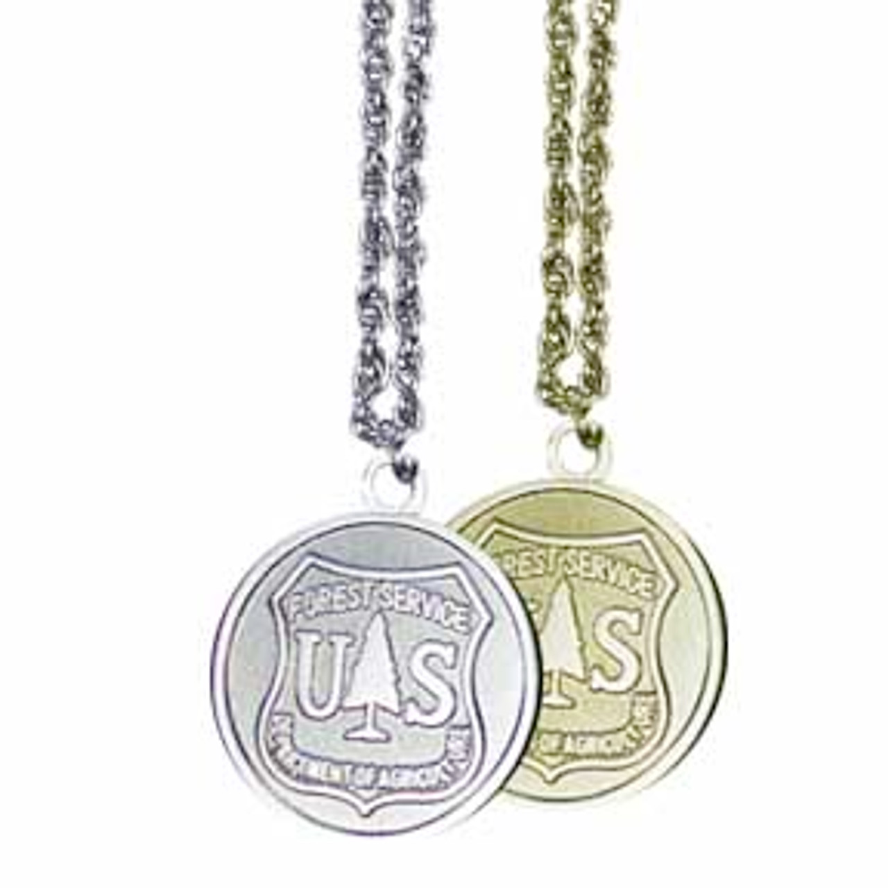 Forest Service Round Necklace (Gold)