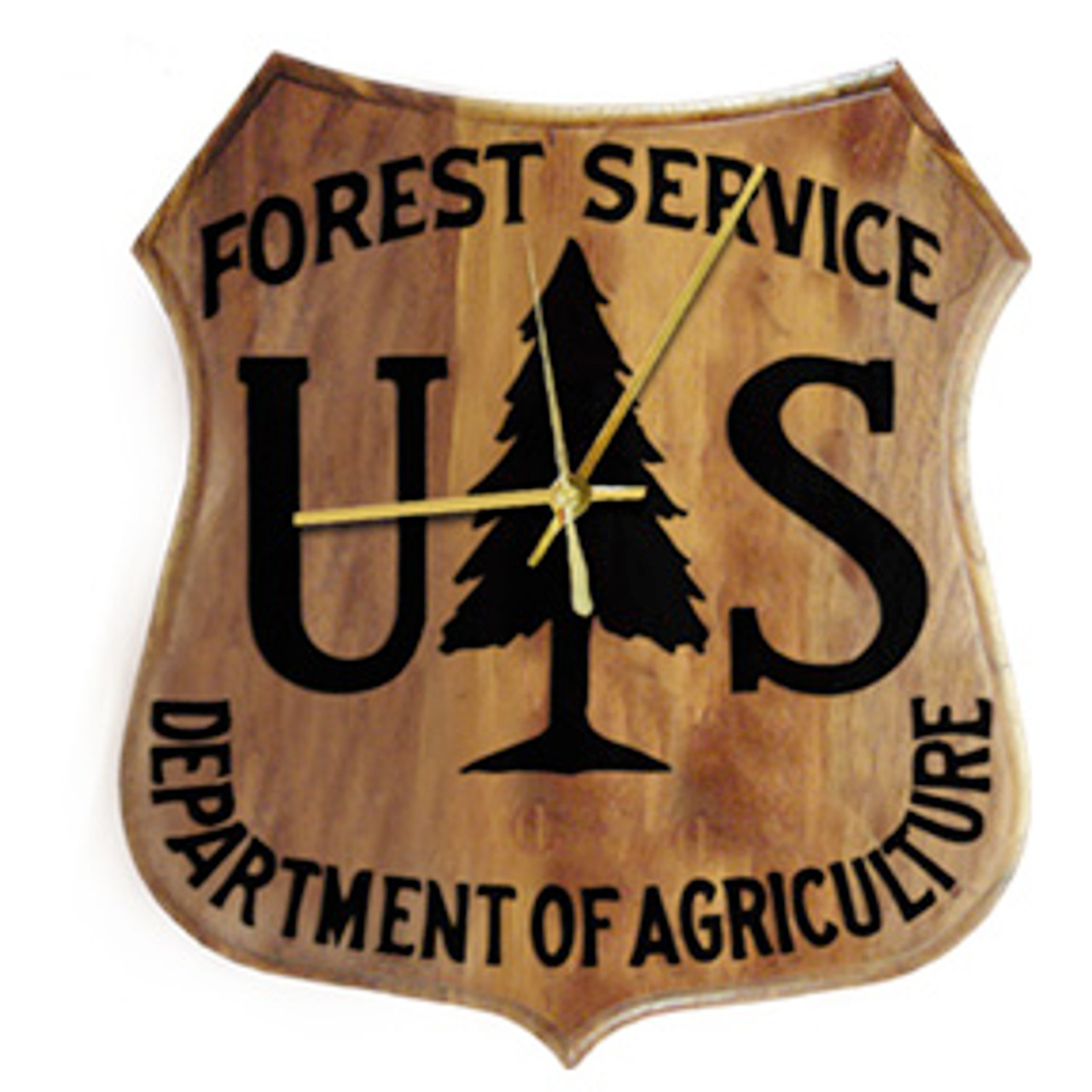 Forest Service Shield Clock