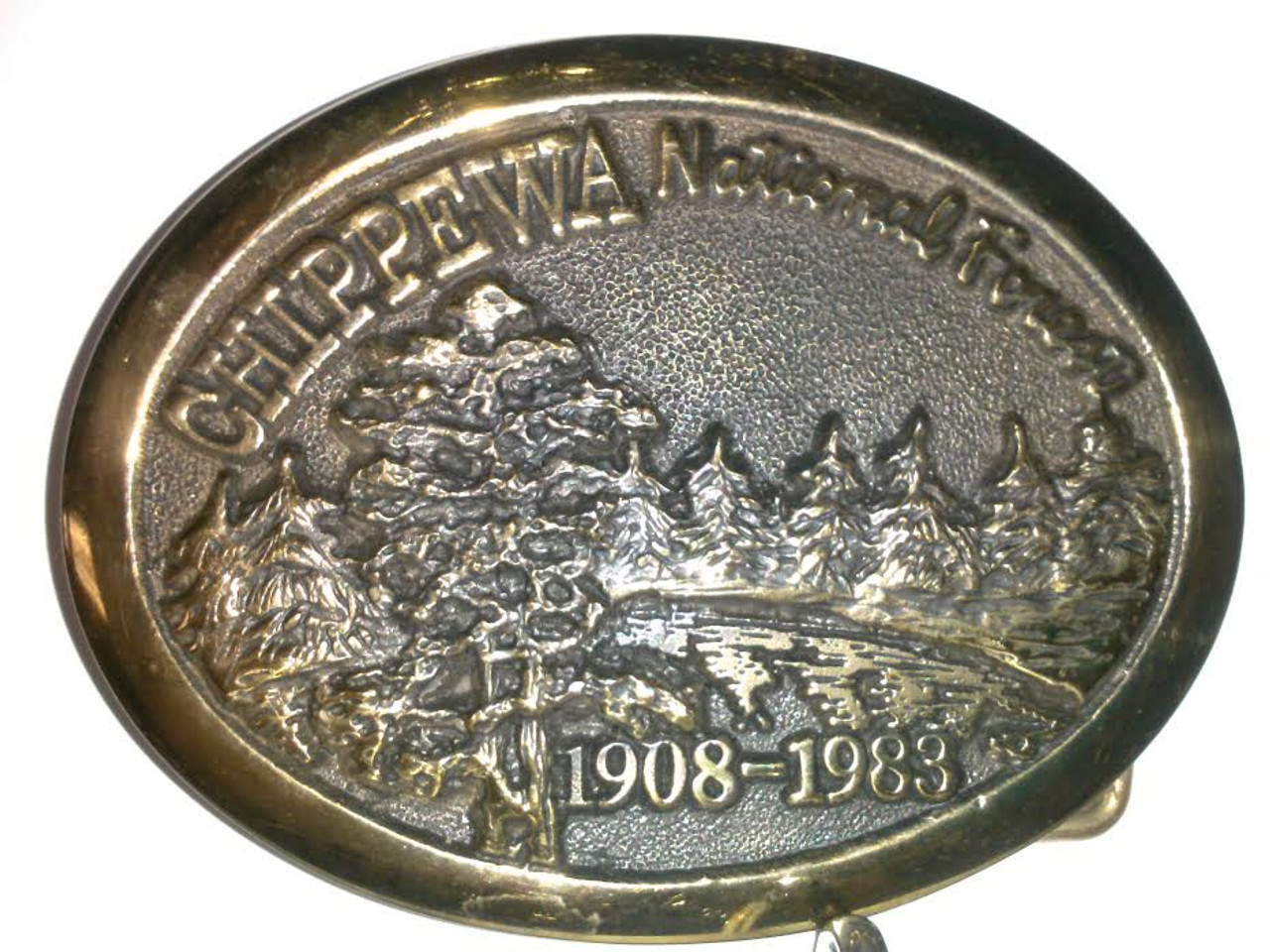 Chippewa National Forest 1908-1983 Buckle