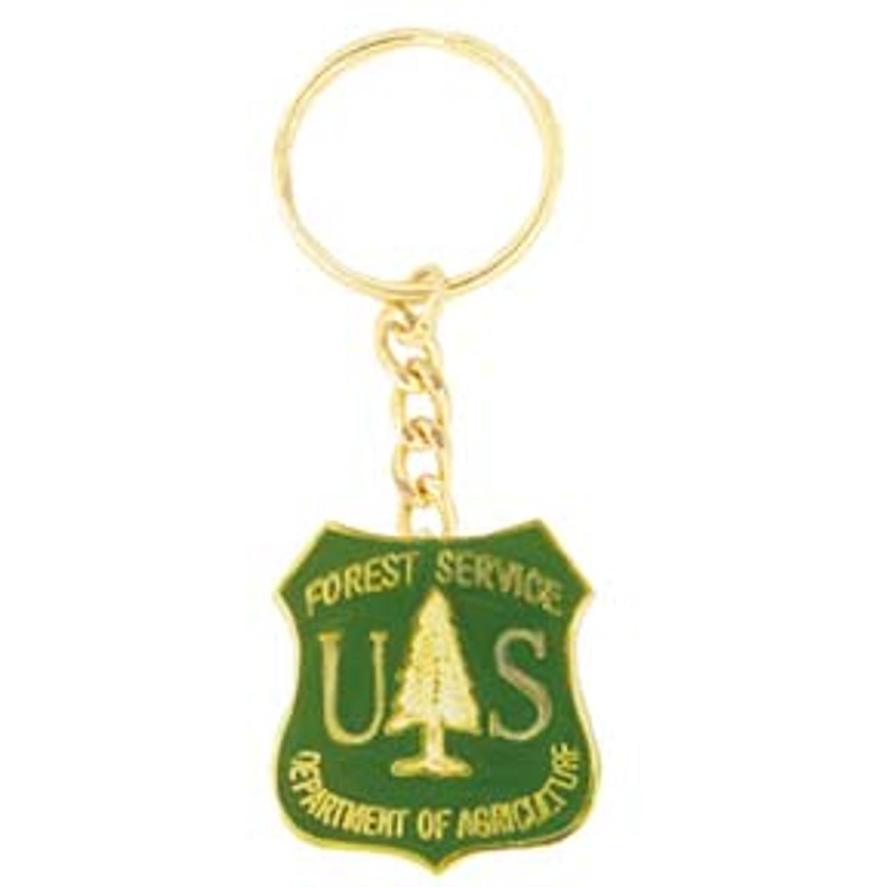 Forest Service Shield Keychain