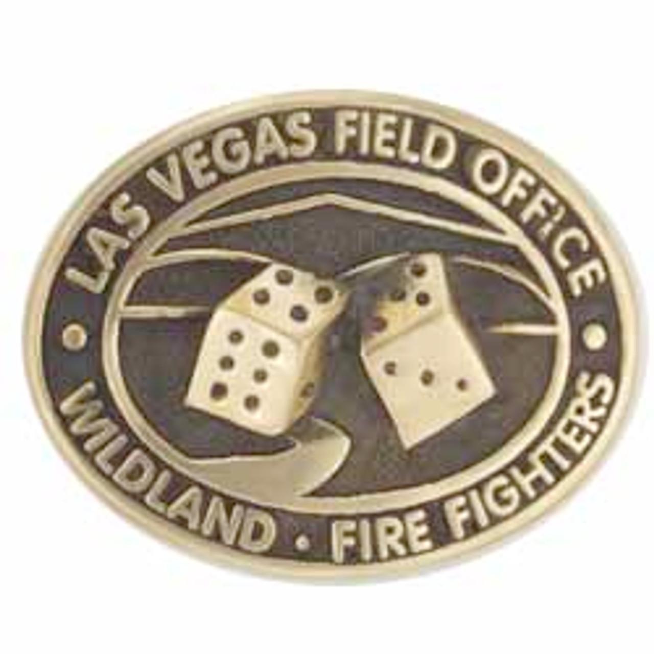 Las Vegas Field Office Wildland Fire Fighters BLM Buckle (RESTRICTED)