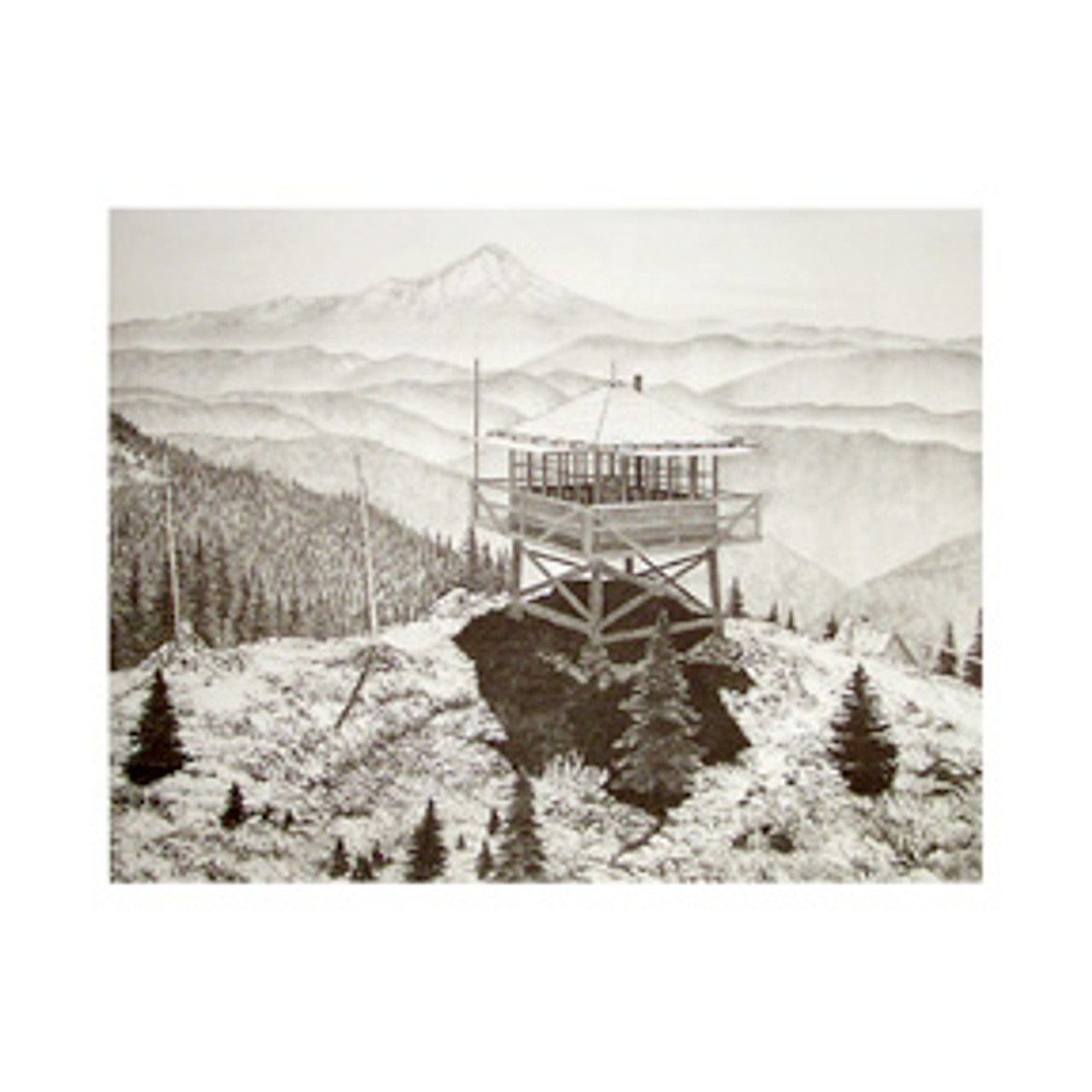 BULL OF THE WOODS LOOKOUT Limited Edition Print