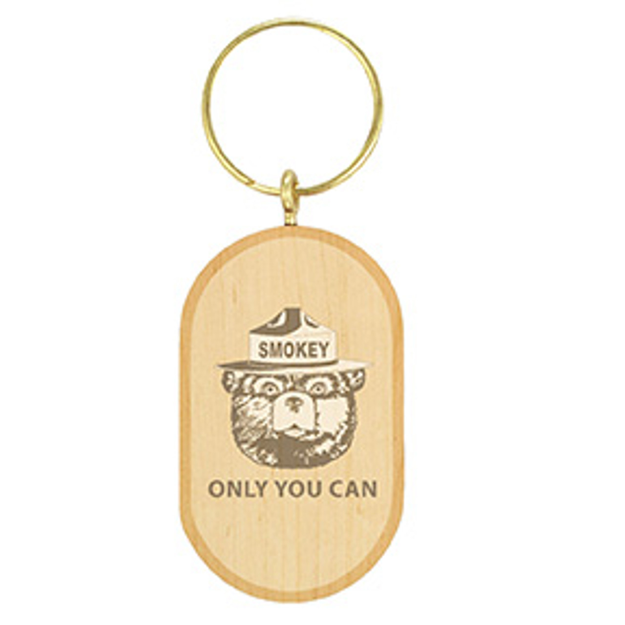 Oval Solid Wood Key Tag - Maple