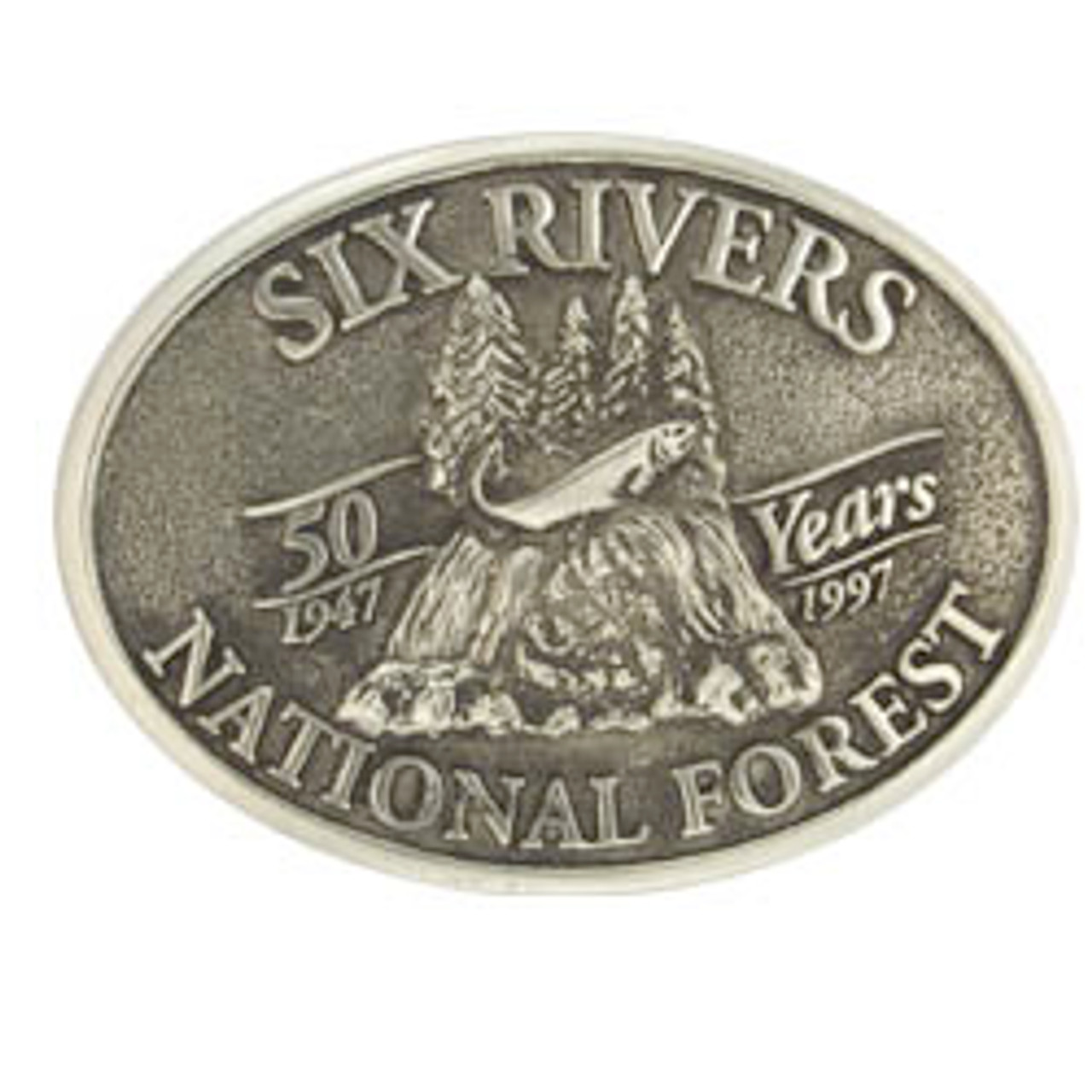 Six Rivers National Forest 50 Years Buckle