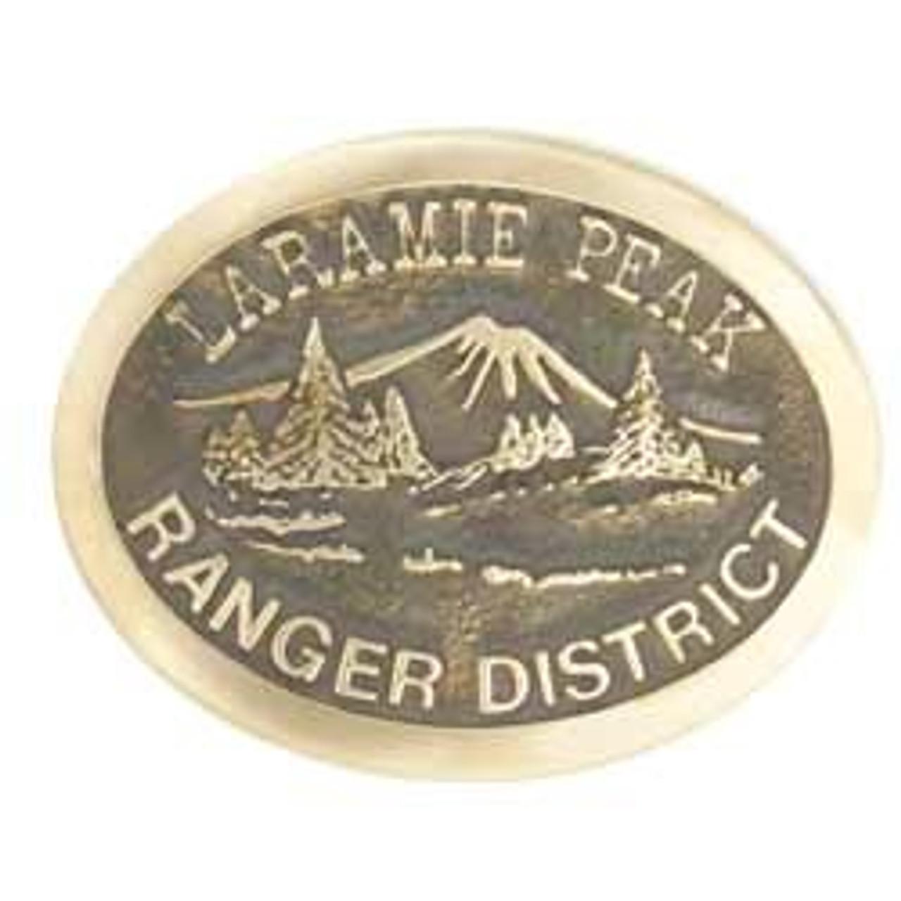 Laramie Peak Ranger District Buckle