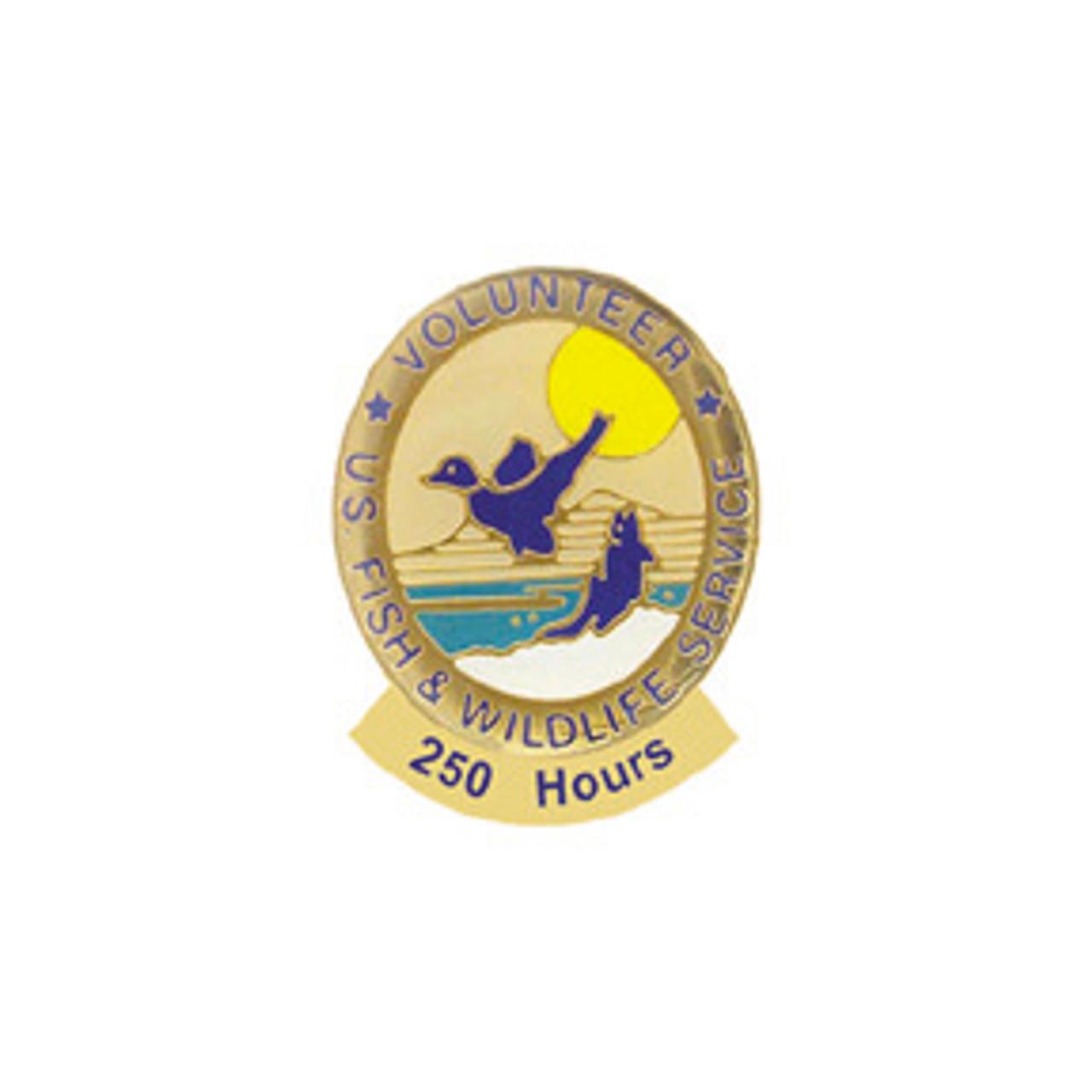Fish & Wildlife Volunteer Hours Pin (8000 hours)