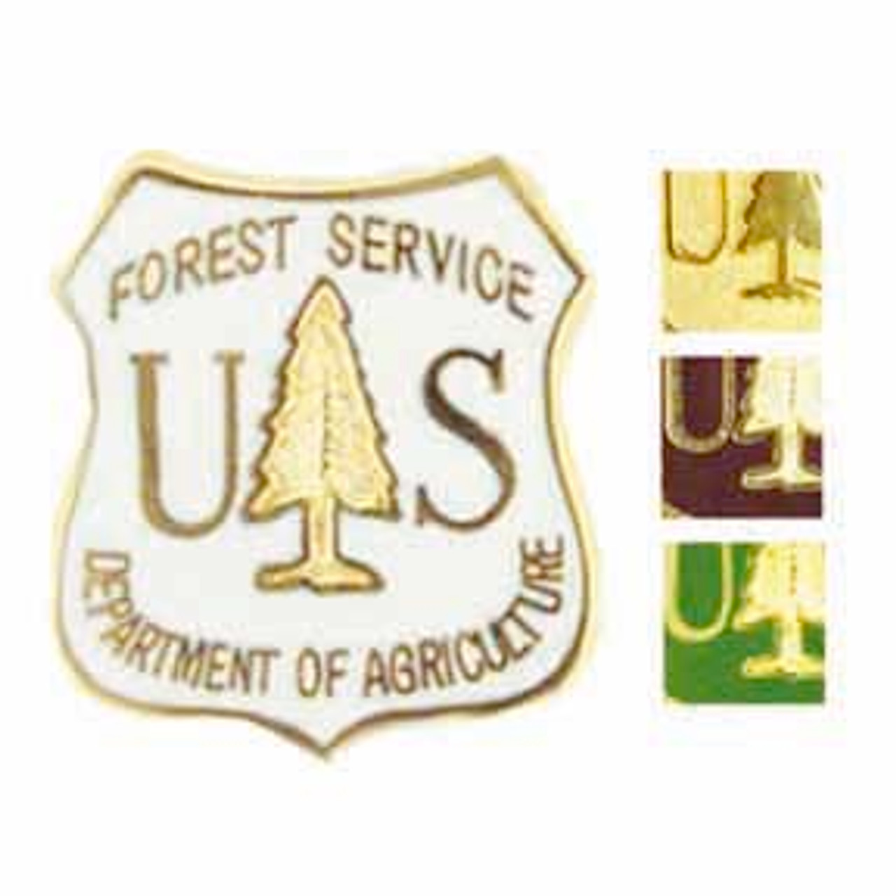 US Forest Service Shield Pin - Green
