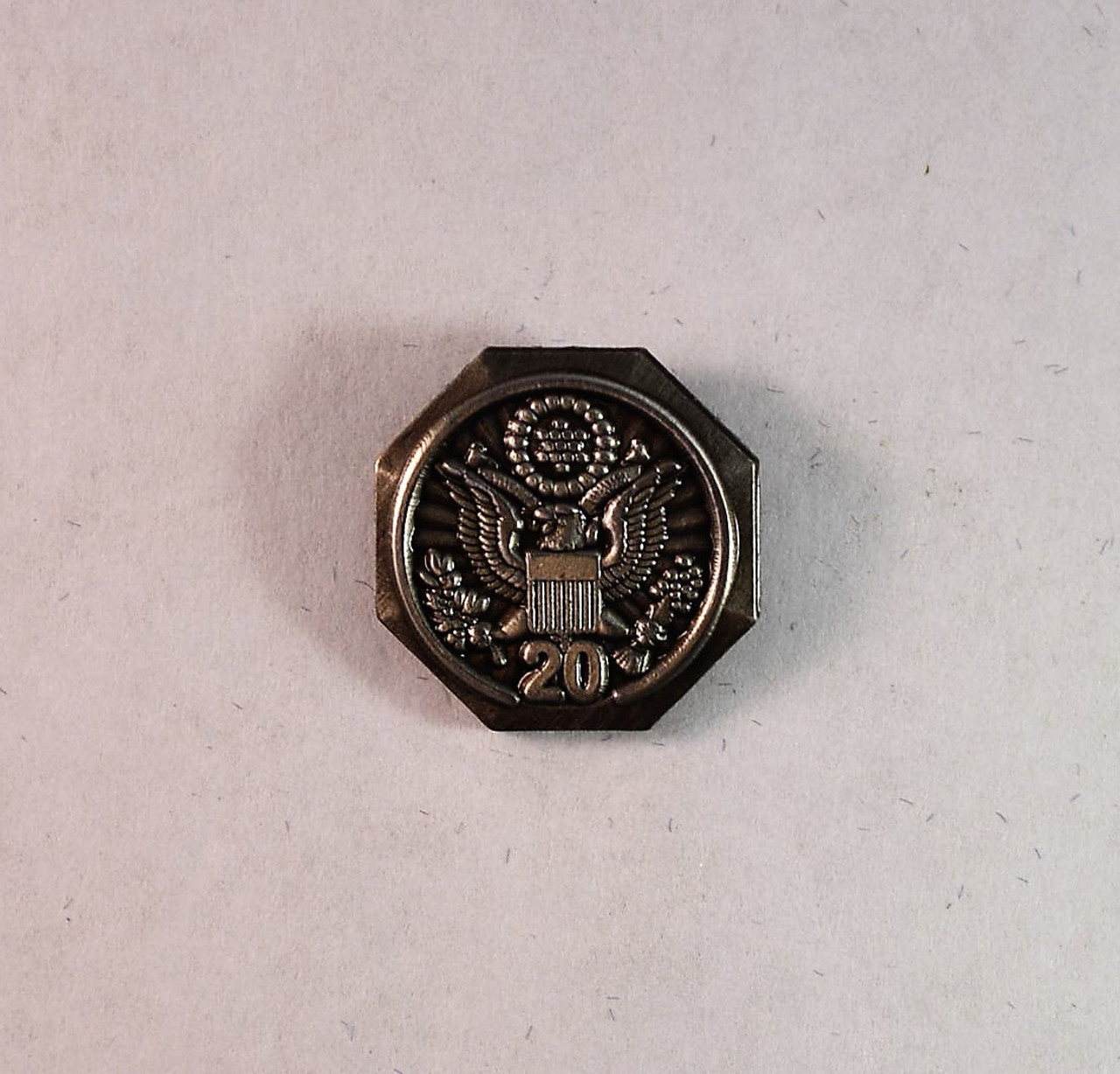 Forest Service Length of Service Pin with Eagle Crest (20 years)