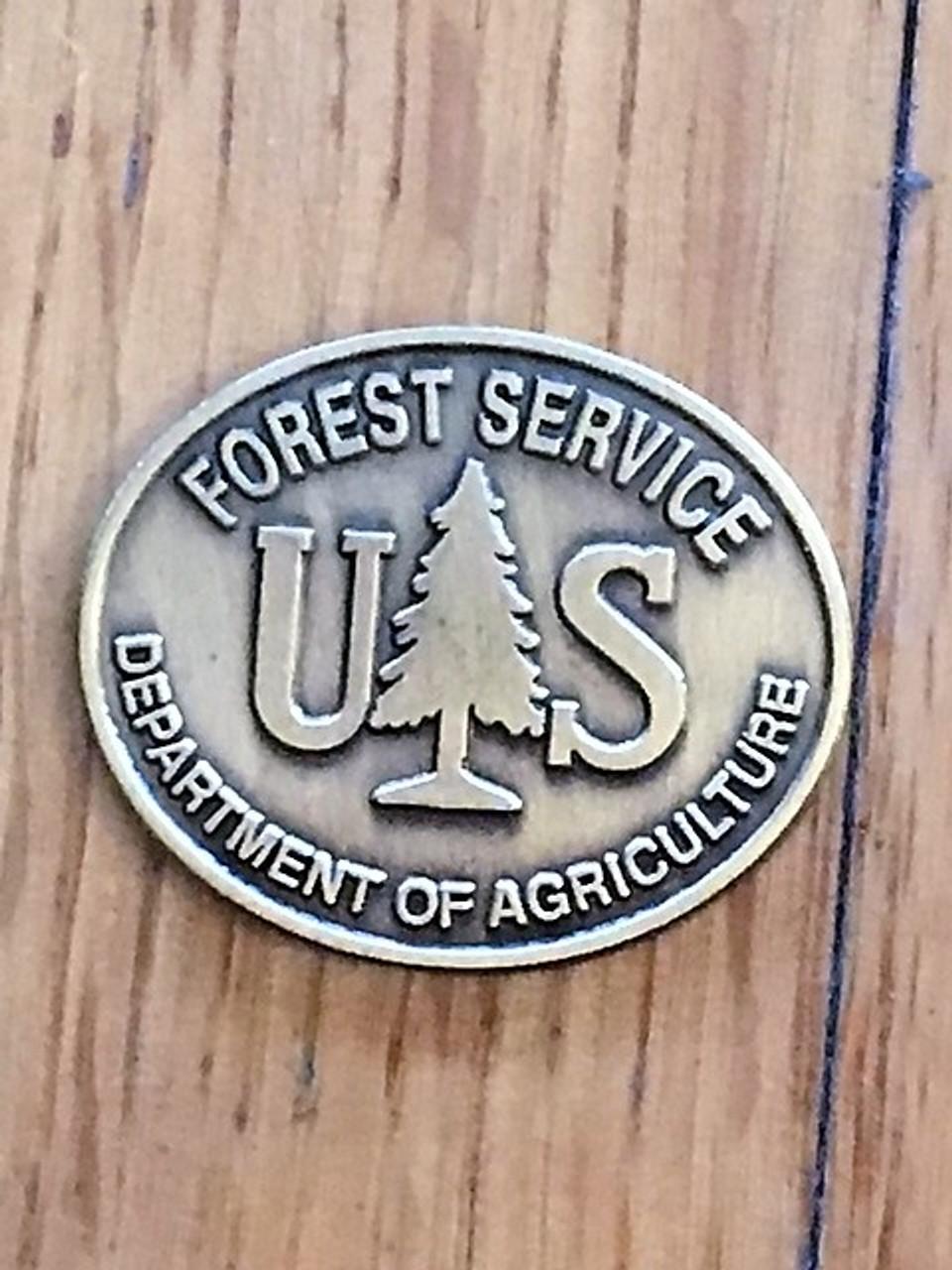 Forest Service (Oval Buckle Medallion) Spur Set