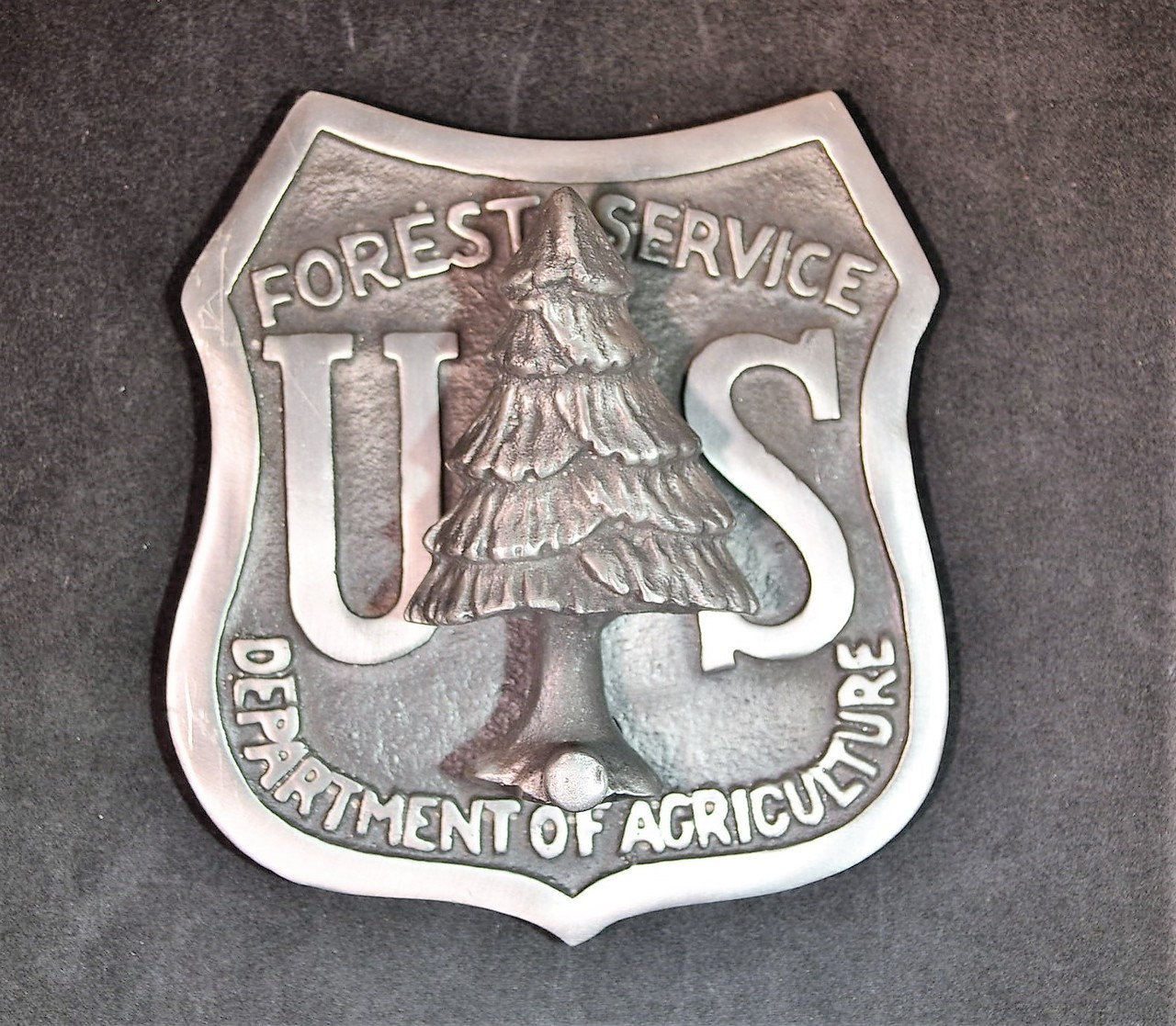 US Forest Service Shield Doorknocker (Silver Alloy)