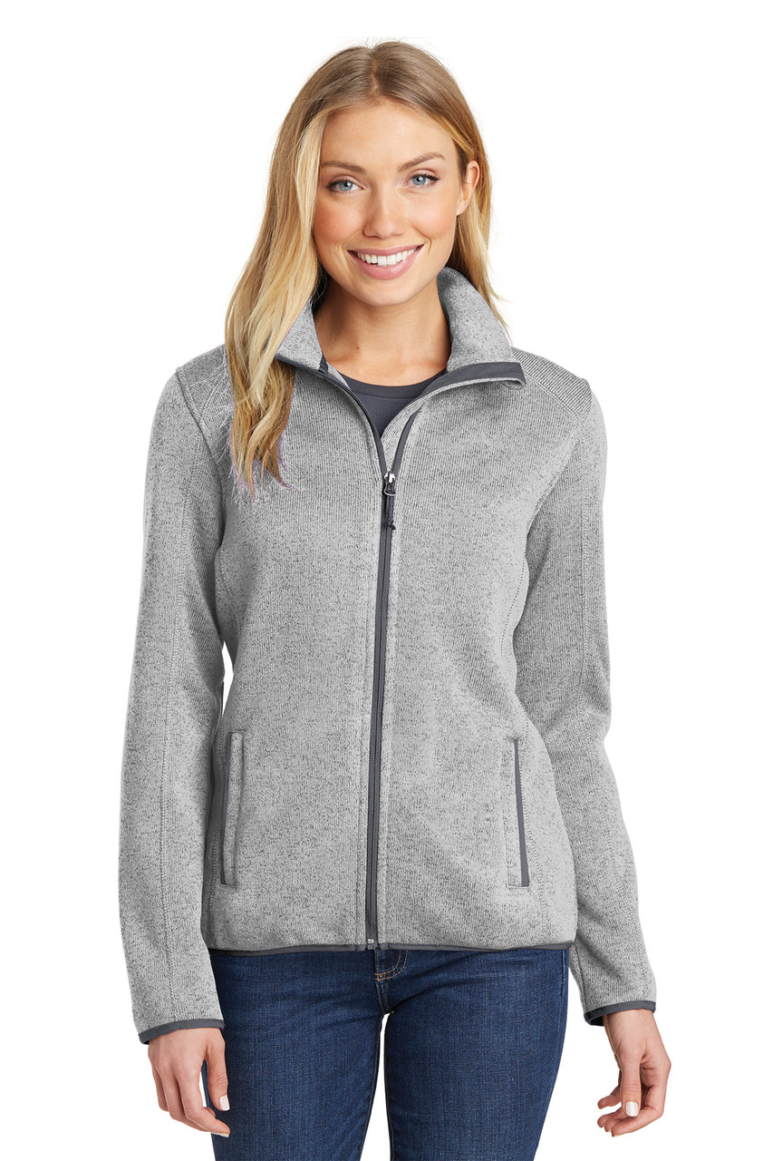 Port Authority Women's Sweater Fleece Jacket*