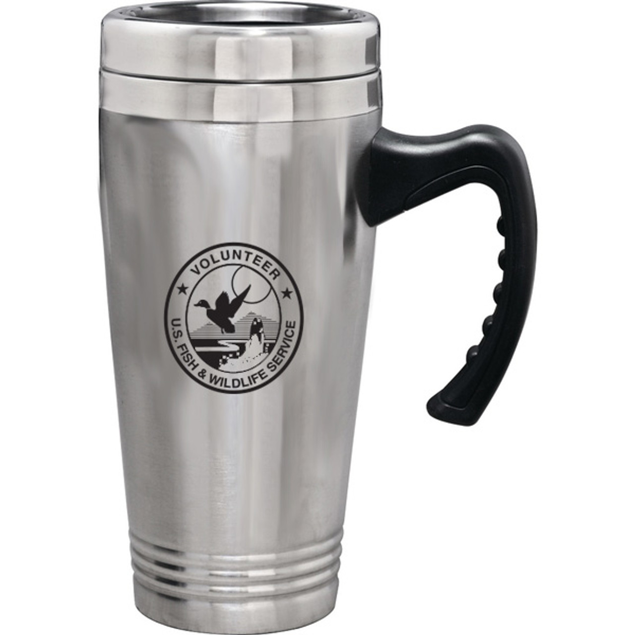 Stainless Steel Travel Mug - Fish & Wildlife Service Volunteer