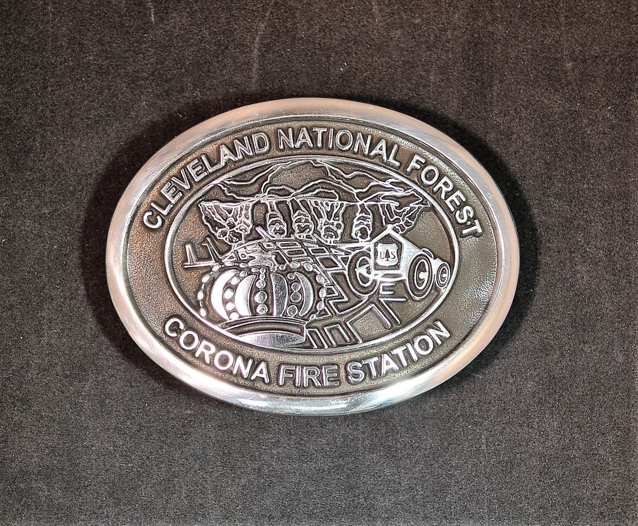 Cleveland National Forest Corona Fire Station Buckle (RESTRICTED)