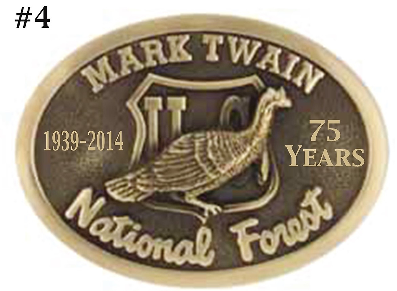 Mark Twain National Forest 75th Anniversary Buckle